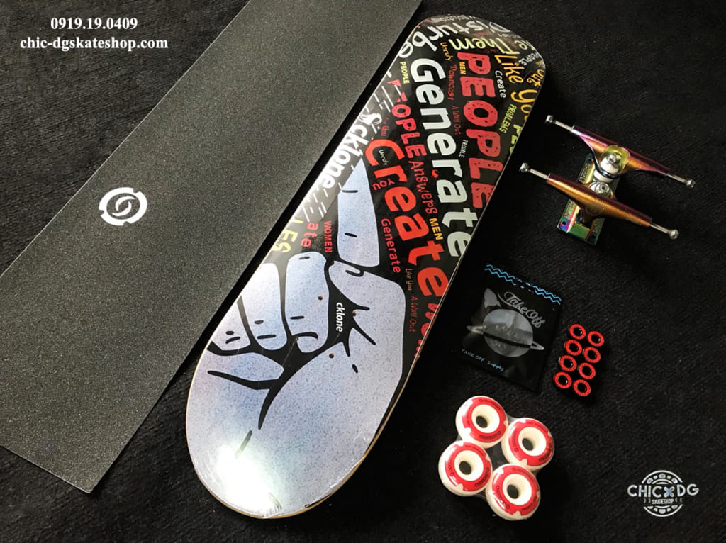 professional skateboard with Sparkle truck