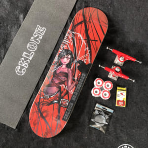 """Complete skateboard professional Cklone 8"""" with hollow truck"""