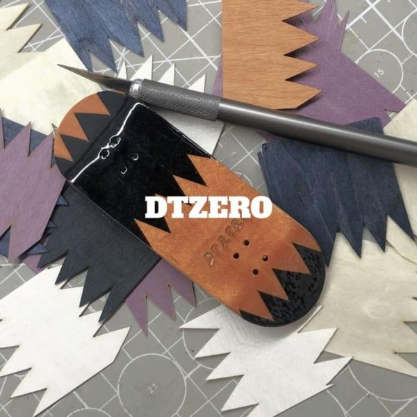 DTZero stiching wood Black Mamba Professional Fingerboard